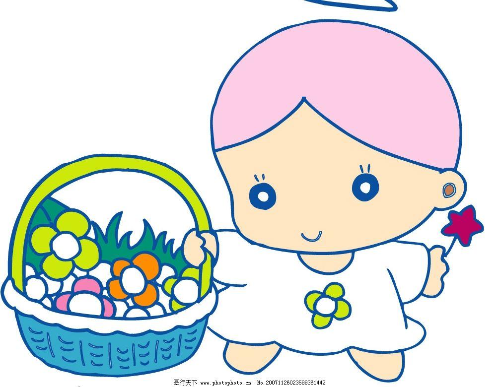 小天使311 可爱宝宝小天使 矢量人物 可爱小天使 矢量图库