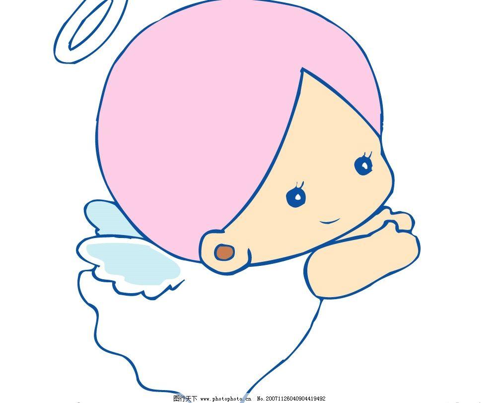 小天使306 可爱宝宝小天使 矢量人物 儿童幼儿 可爱小天使 矢量图库