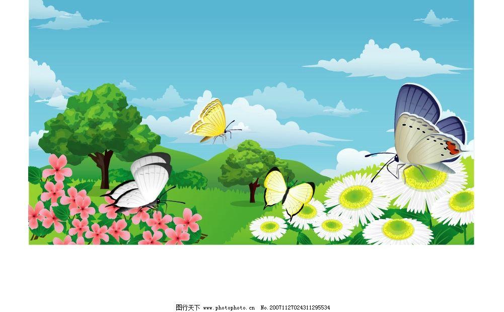 韩国风景矢量图图片