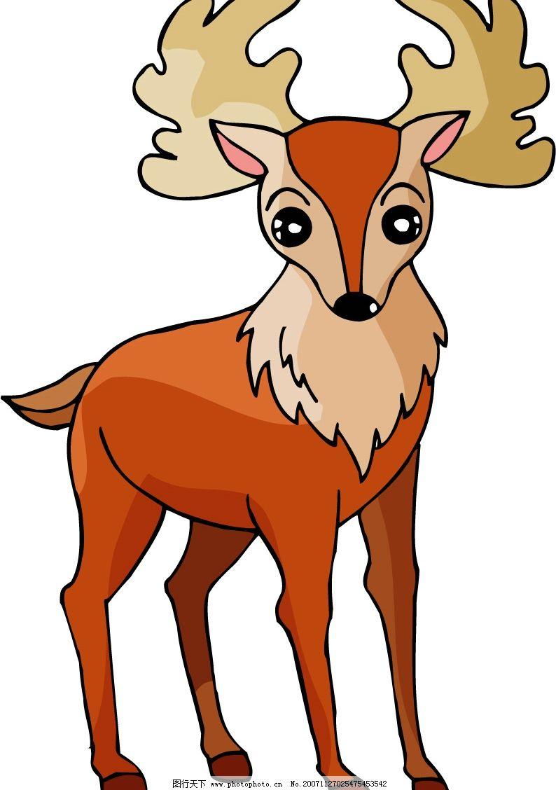 矢量动物 鹿 生物世界