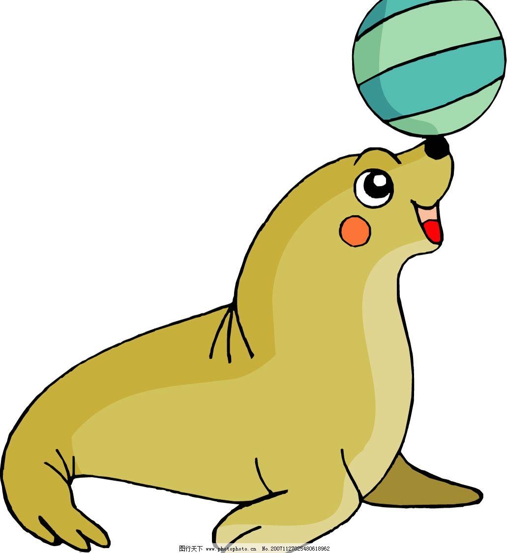 矢量动物 海狮 生物世界