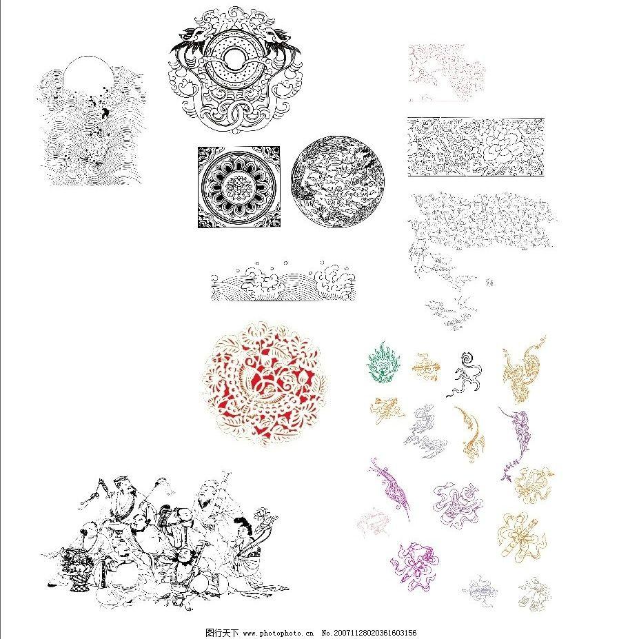 精品中国传统矢量图 中国传统