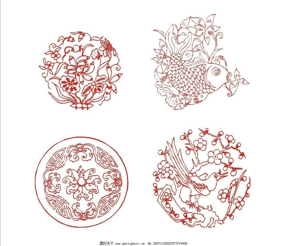 吉祥纹 中国传统图纹 底纹边框 花纹花边 矢量图库   cdr