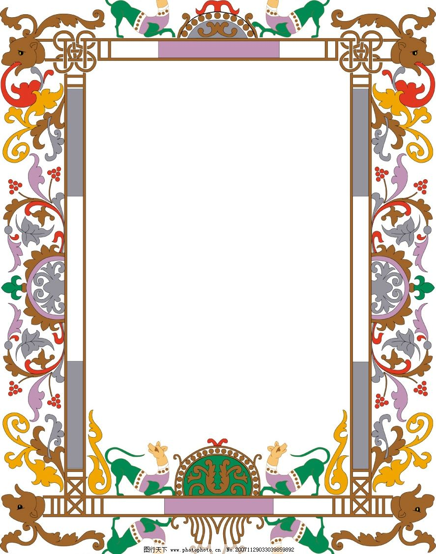 ppt 背景 背景图片 边框 模板 设计 相框 887_1128 竖版 竖屏