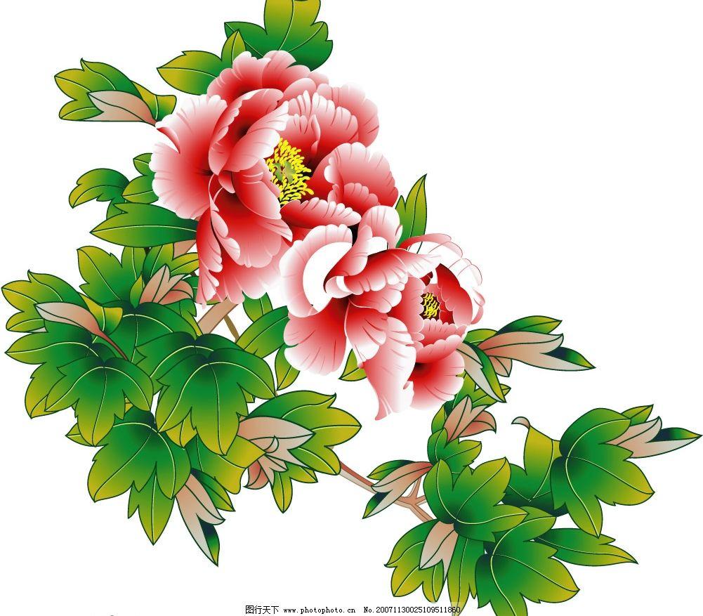 儿童水彩画仙鹤来花