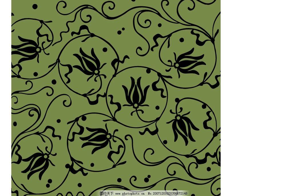日本传统平铺底纹图案矢量素材图片