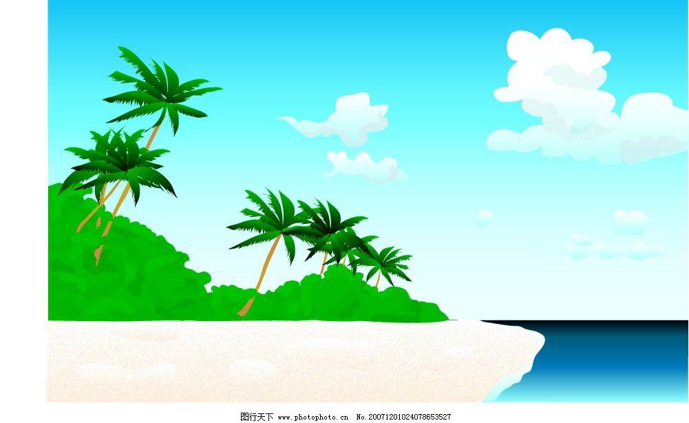 韩国风景 韩国风景矢量图高清析 自然风景 韩国风影 矢量图库