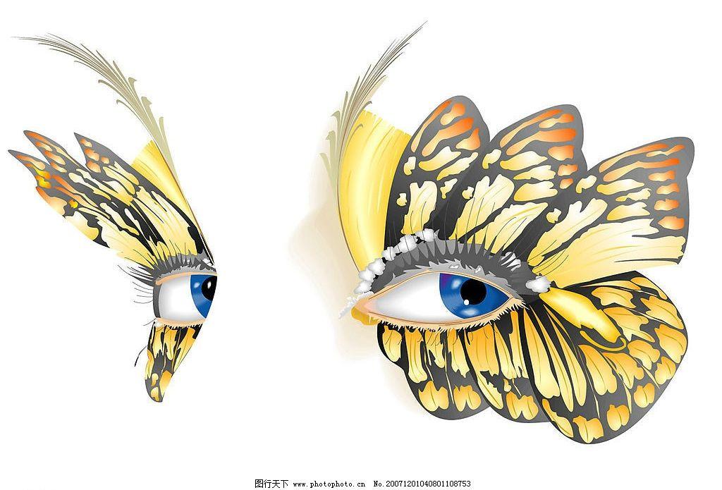 创意 蝴蝶 眼睛 图片素材 摄影图库