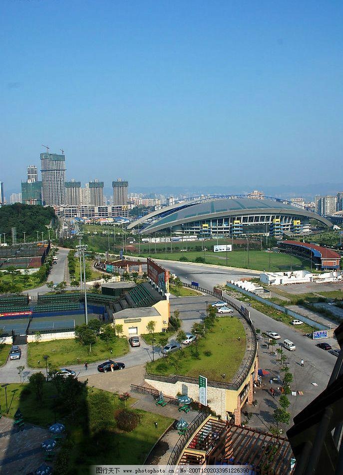 重庆奥体中心 重庆人文景观 国内旅游 重庆风景 摄影图库