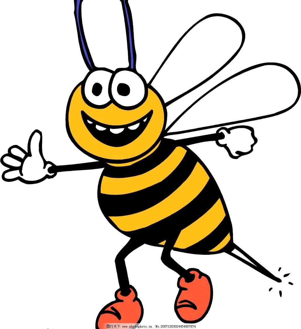 蜜蜂 生物世界 野生动物 动物 矢量图库   wmf