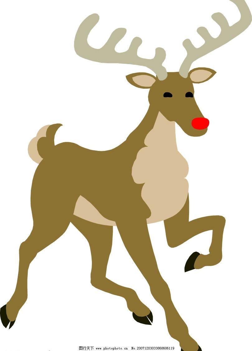 圣诞鹿 其他矢量 矢量素材 圣诞素材 矢量图库   wmf