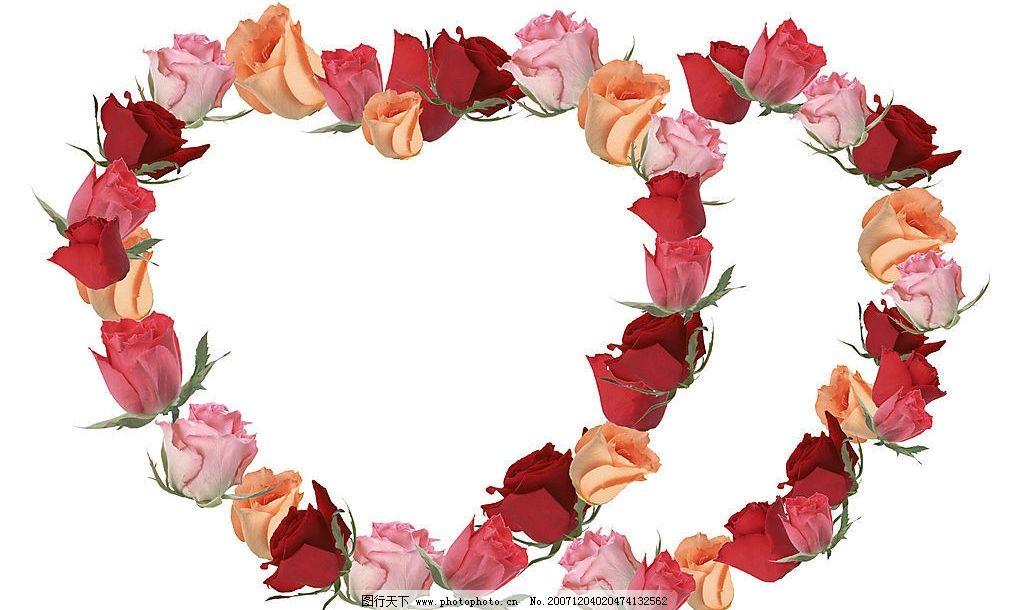 情人节心形花边边框图片