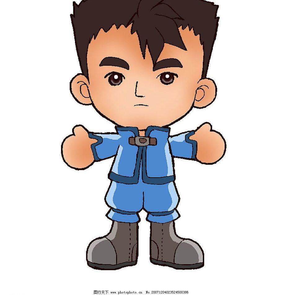 卡通小人 男孩 人物图库 儿童幼儿 卡通人物--孩子 设计图库 昵图网 7