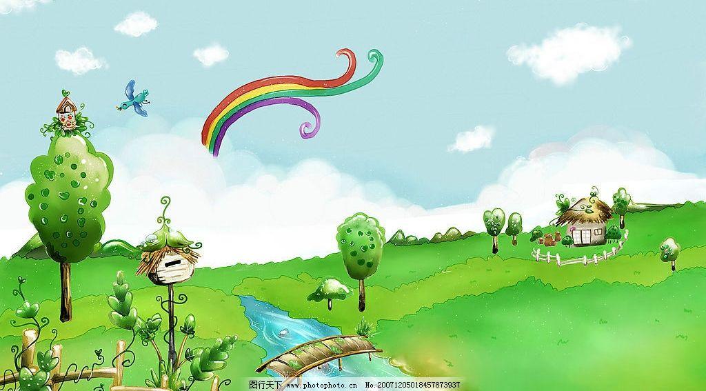 卡通风景插画图片