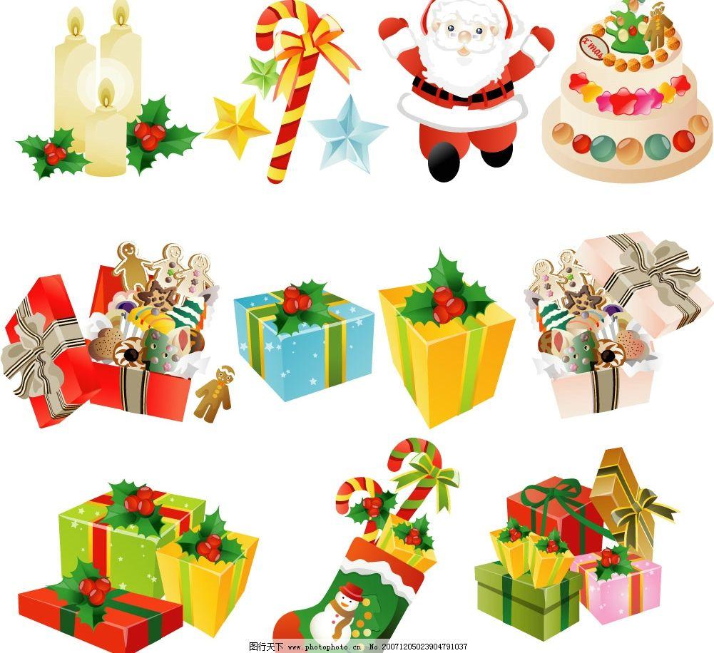 圣诞雪人礼物图片