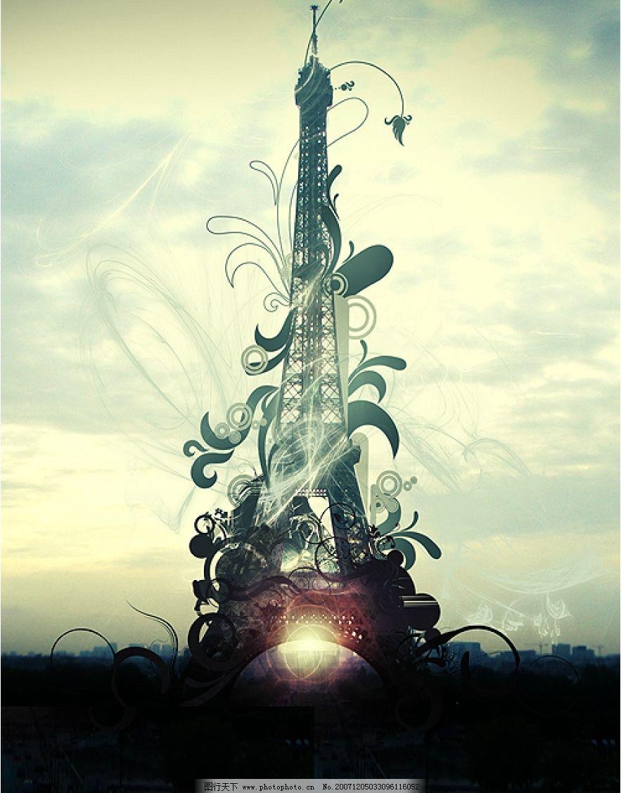 时尚psd 巴黎铁塔图片