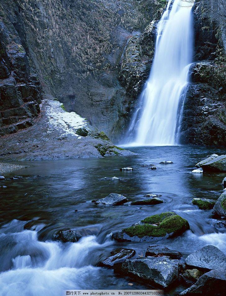 自然景观 山水风景 瀑布溪流树林河水 摄影图库 350 jpg