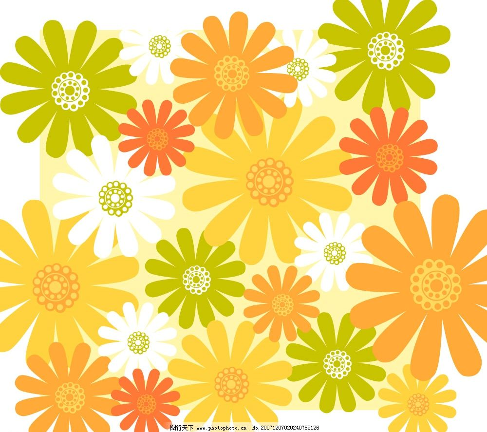植物矢量背景底纹图片