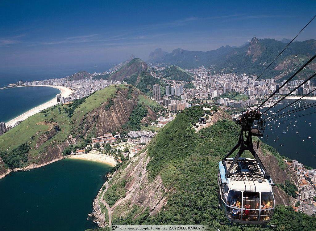 加勒比海风景系列 加勒比海 巴西 城市 缆车 基督山 海 旅游摄影 国外