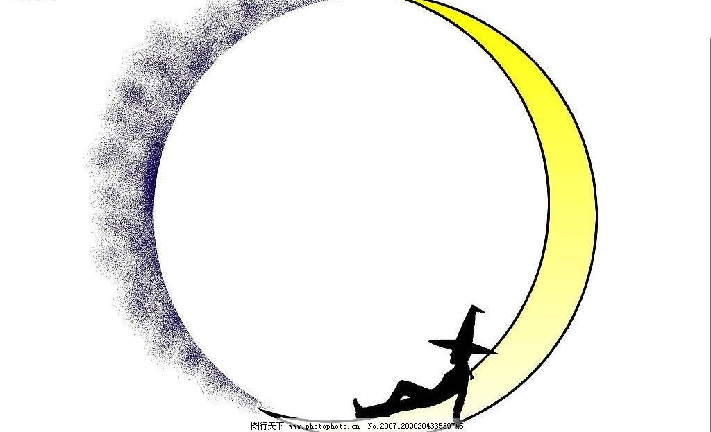 月亮边框图片