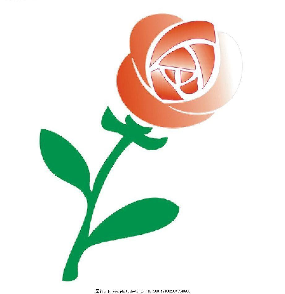 玫瑰矢量图片