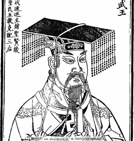 中国历史人物 武王 矢量人物 其他人物 中国历史人物矢量图 矢量图库