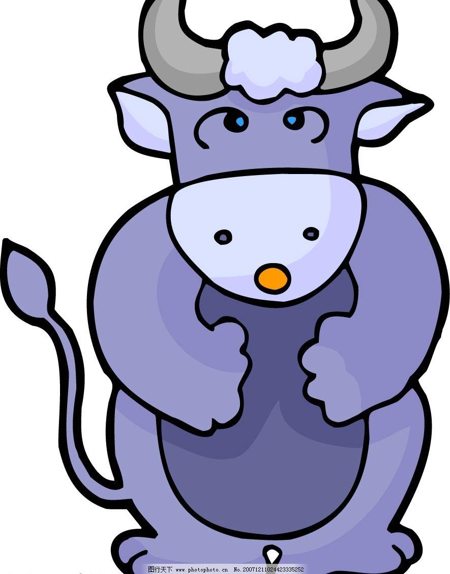 牛 牛儿 生物世界 野生动物 十二生肖 矢量图库   cdr
