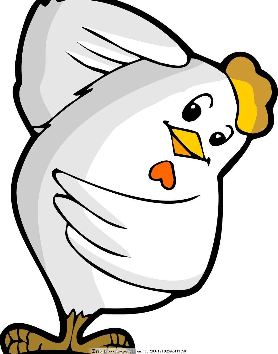 卡通鸡 十二生肖 生物世界 野生动物 矢量图库   cdr