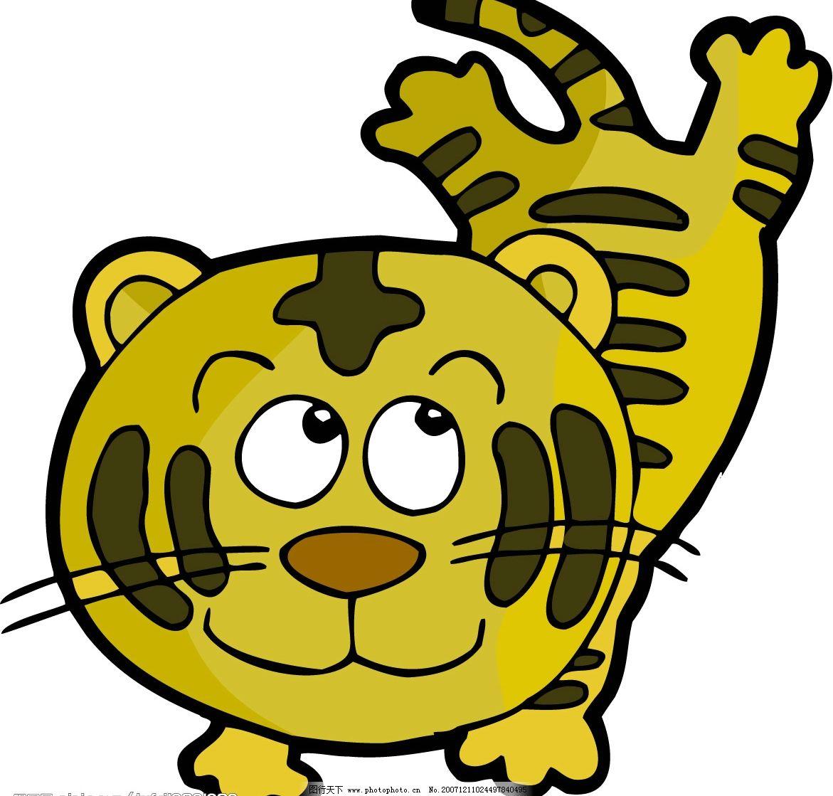 老虎 十二生肖 生物世界 野生动物 矢量图库   cdr
