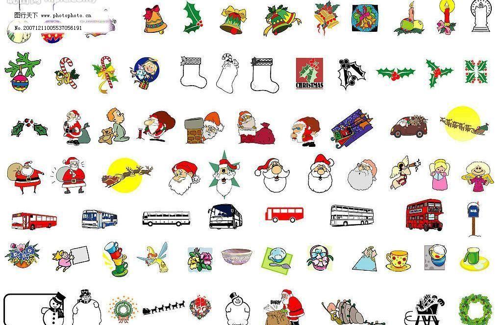 圣诞节卡通素材图片