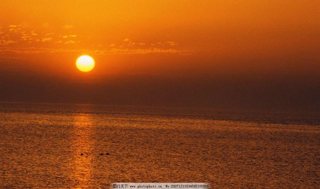 太阳刚出的风景