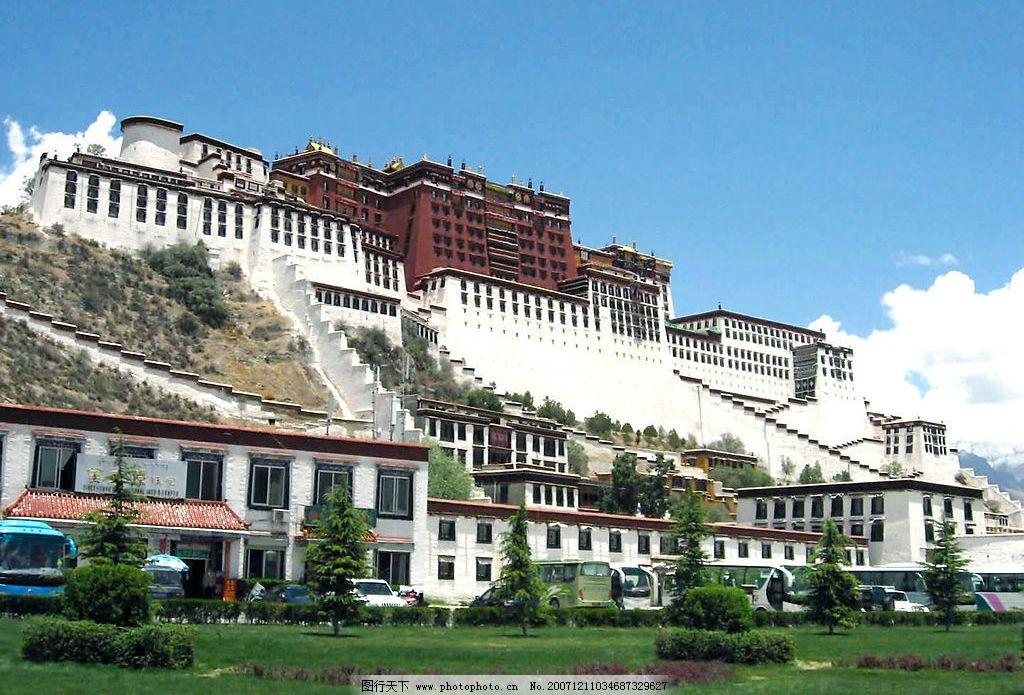 拉萨 西藏风景拉萨名建筑 摄影图库