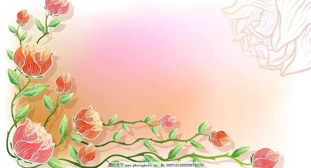 韩国矢量花边花纹底纹背景大全图片