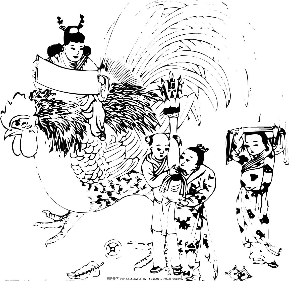 设计图库 人物图库 儿童幼儿  中国古代儿童(012) 中国古代儿童 小孩