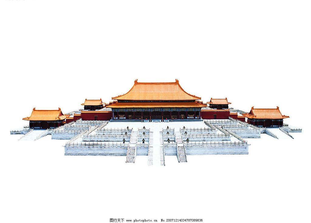 中国皇宫 皇家建筑 木结构 红墙黄瓦 石雕 石栏 建筑景观 世界建筑