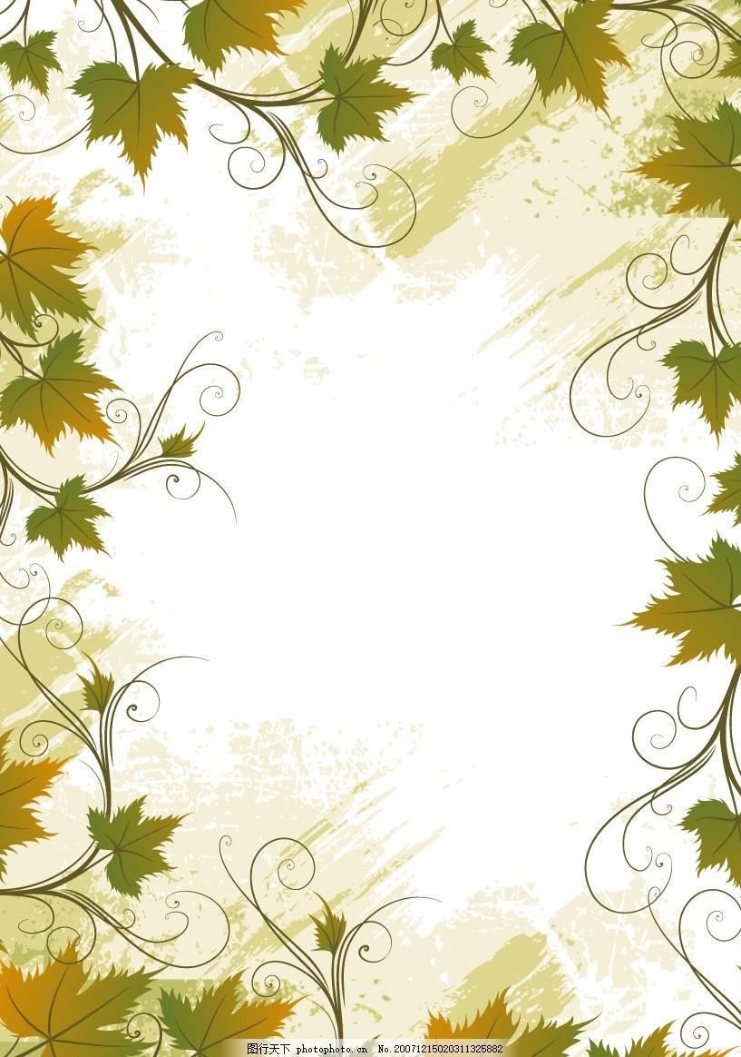 藤类植物花边边框