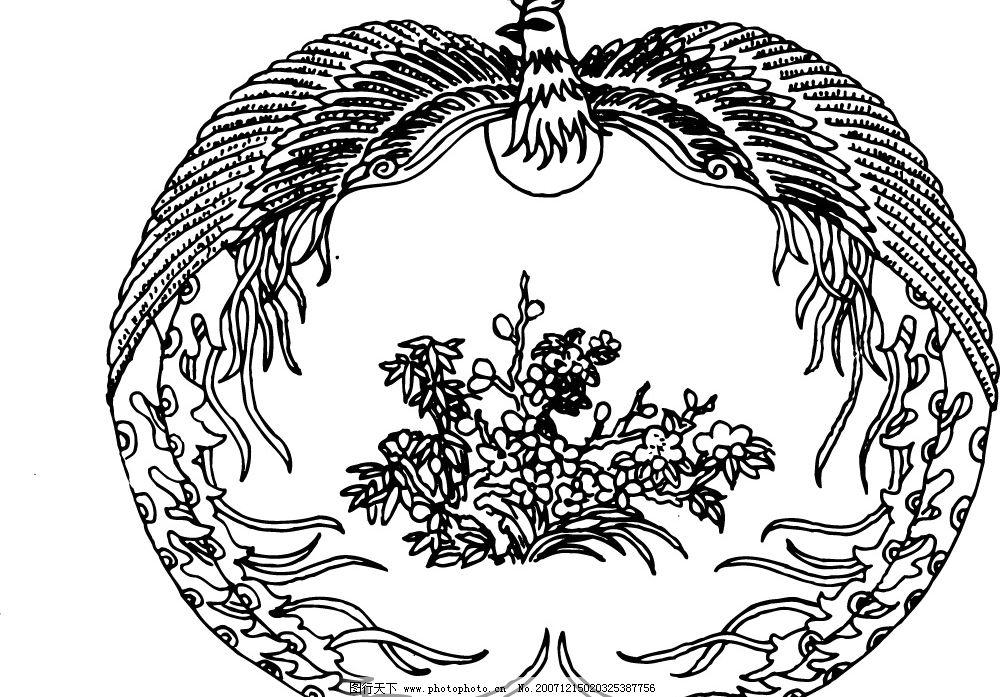 凤凰 凤凰 底纹 中华传统图案 图腾 底纹边框 花纹花边 最好的凤凰