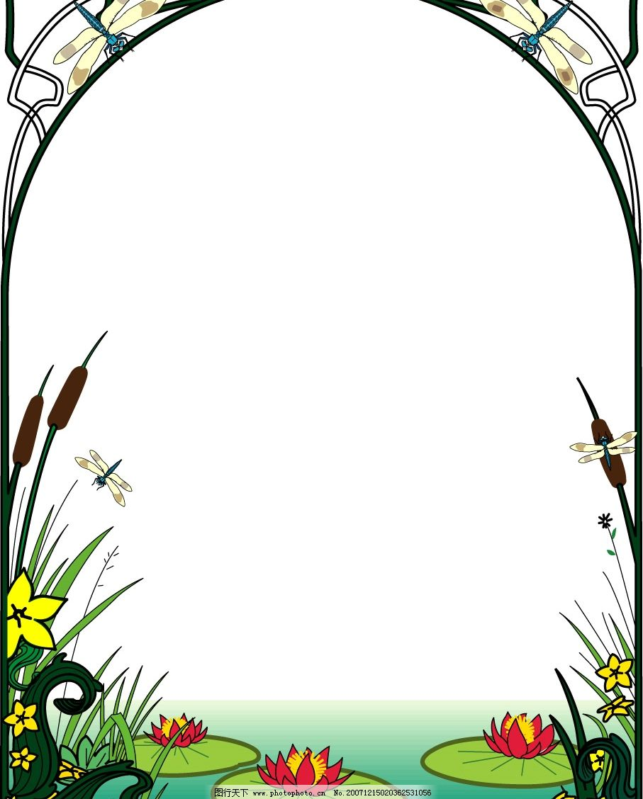 装饰图框图片,底纹边框 花纹花边 矢量图库-图行天下