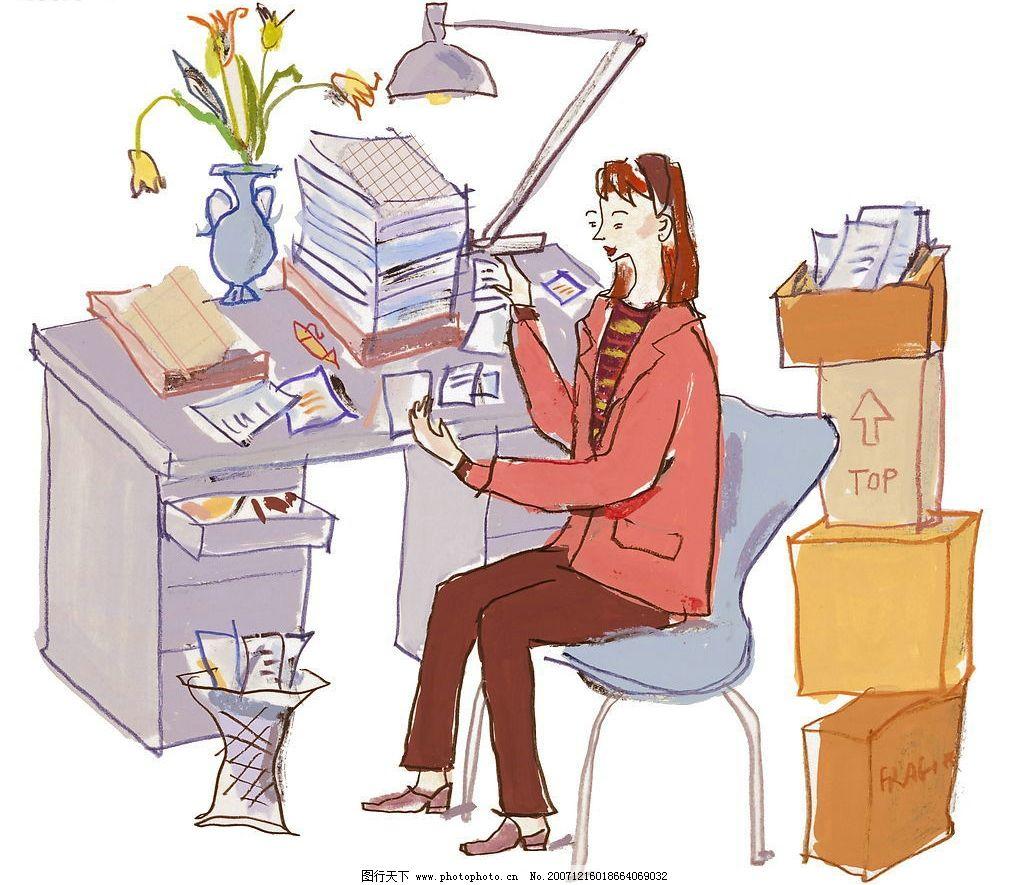时尚商业插画 时尚 插画 商务 休闲 办公 专业人士 动漫动画 其他