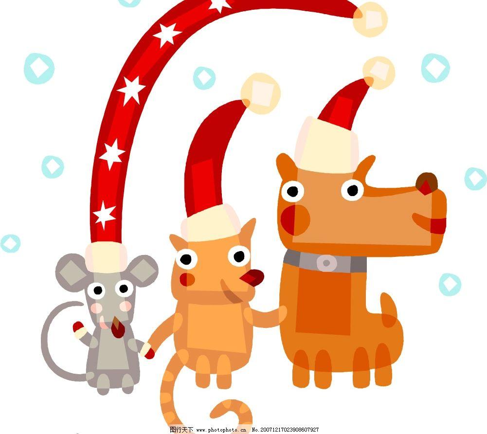 娃娃1 圣诞主题矢量图 圣诞 矢量图库 节日 新年 贺卡 背景 底纹边框