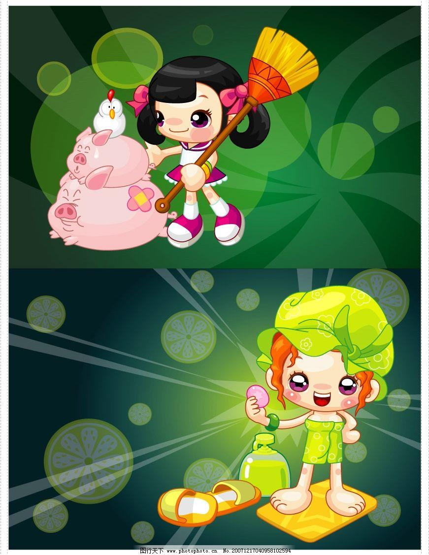 可爱的中国卡通人物图片