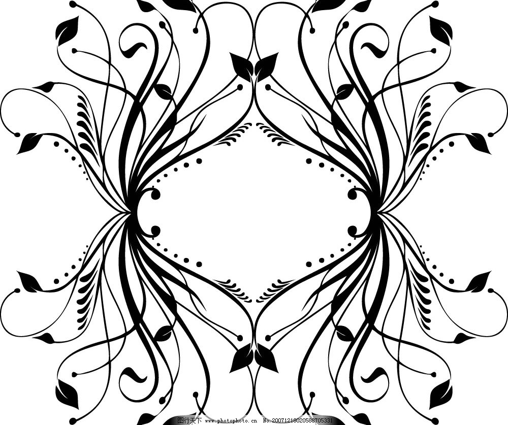 简单的剪纸花纹图案