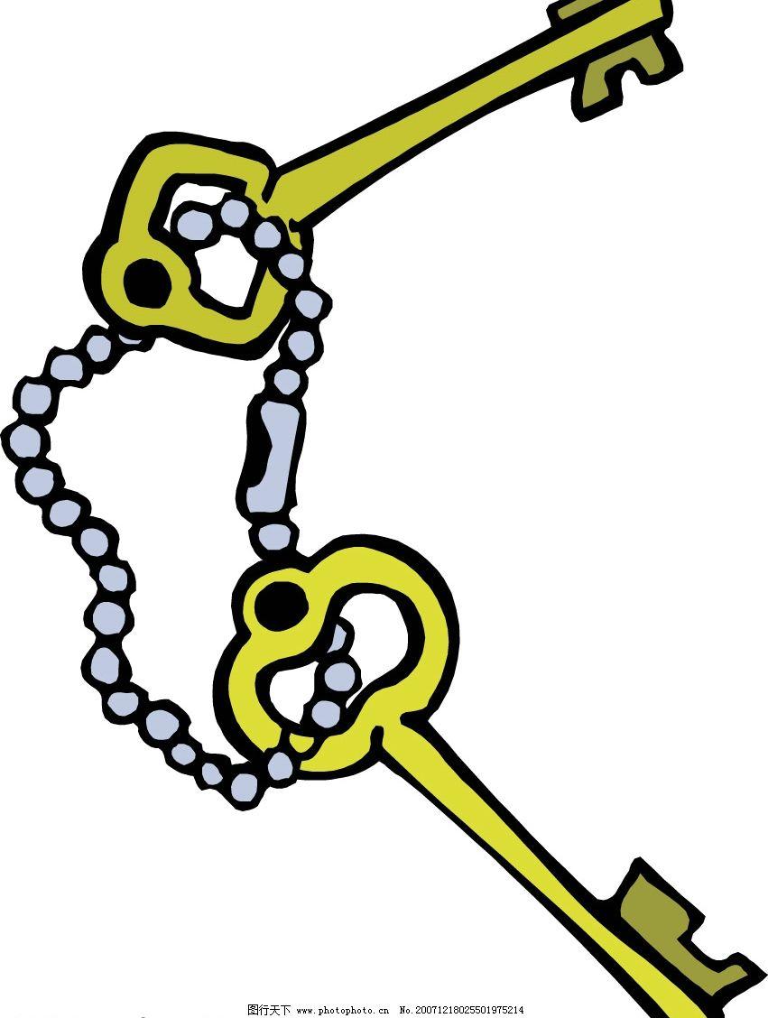 钥匙,锁,保险箱 钥匙 生活百科 生活用品 矢量图库   eps