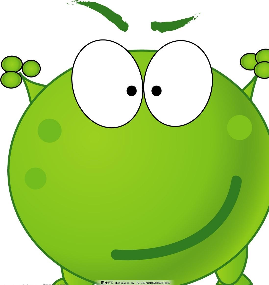 绿豆蛙 青蛙 可爱 其他矢量 矢量素材 矢量图库