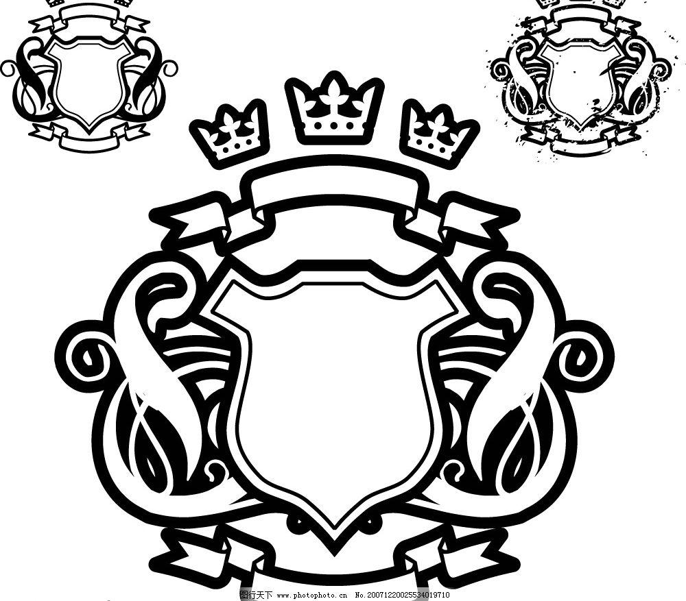 盾牌 饰品 矢量图库