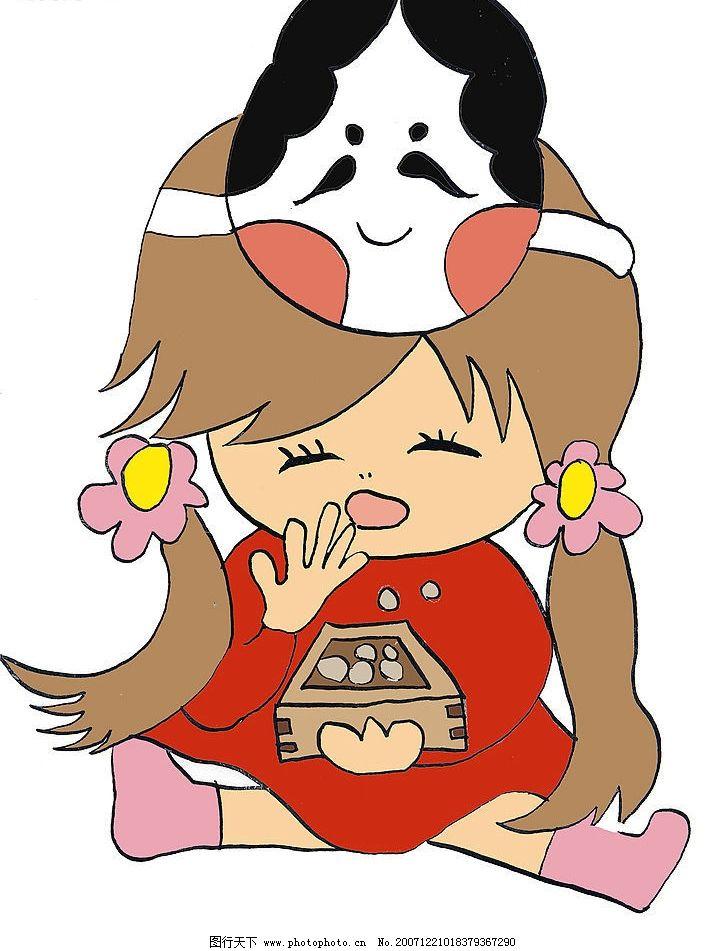 可爱小女生 卡通 动漫动画 动漫人物 国外超可爱卡通 设计图库 350