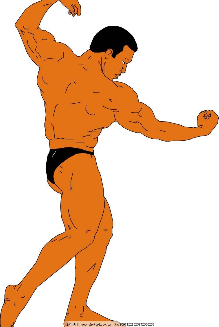 肌肉男 肌肉男 健美 矢量人物