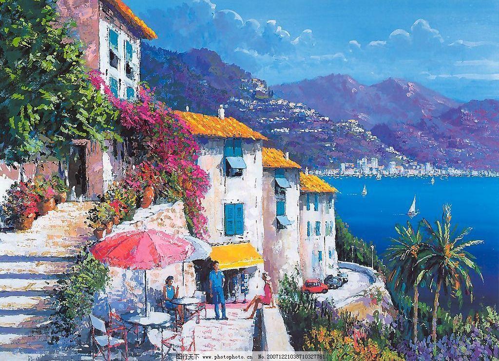 绘画风景 绘画 风景 文化艺术 美术绘画 摄影图库 400dpi jpg
