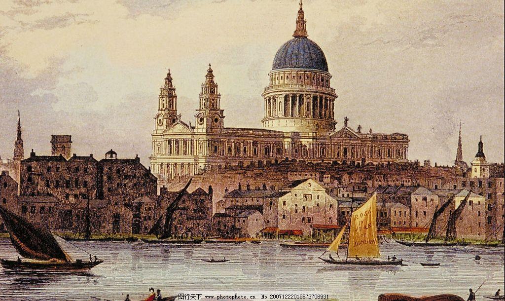 油画建筑 欧洲 文艺复兴