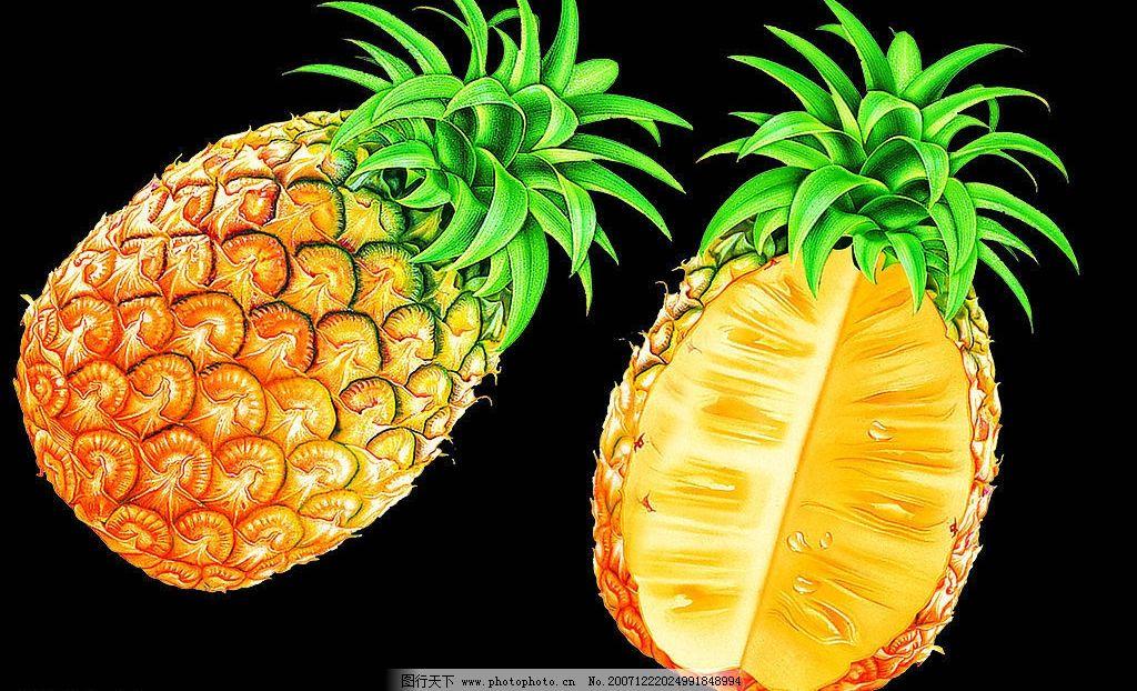 菠萝马克笔手绘